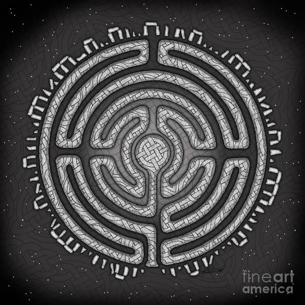 Mixed Media - Celtic Labyrinth Mandala by Kristen Fox