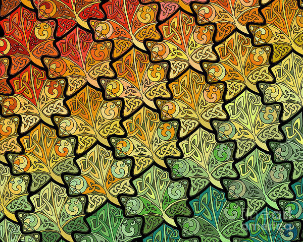 Mixed Media - Celtic Leaf Transformation by Kristen Fox