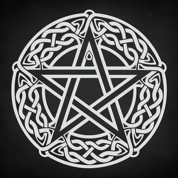 Celtic Mythology Wall Art - Digital Art - Celtic Pentagram by Zapista Zapista