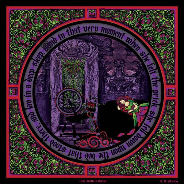 Sleeping Beauty Castle Digital Art - Celtic Sleeping Beauty Part II The Wound by Celtic Artist Angela Dawn MacKay