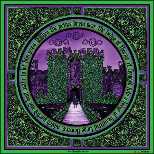 Sleeping Beauty Castle Digital Art - Celtic Sleeping Beauty Part IIi The Journey by Celtic Artist Angela Dawn MacKay
