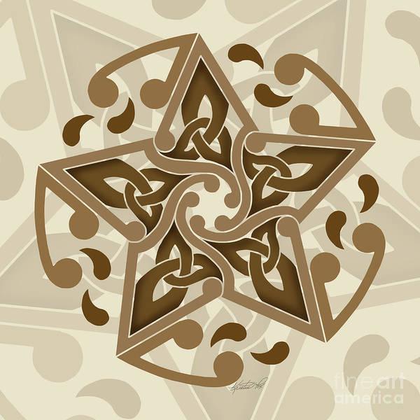Mixed Media - Celtic Star by Kristen Fox