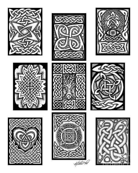 Drawing - Celtic Tarot Spread by Kristen Fox