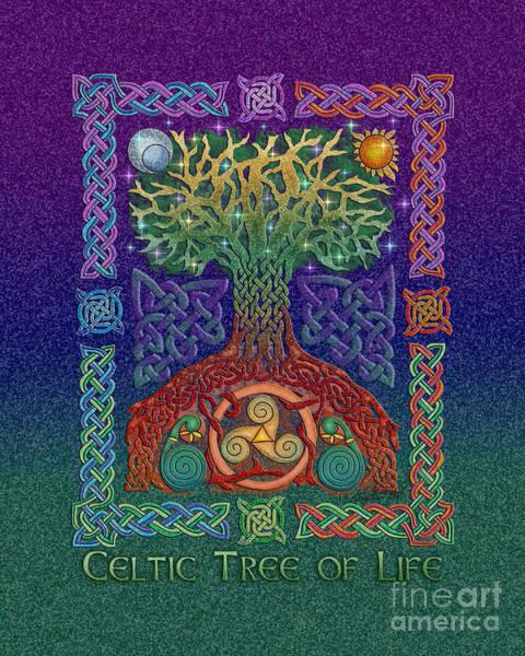 Mixed Media - Celtic Tree Of Life by Kristen Fox