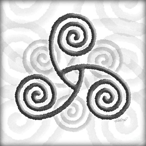 Mixed Media - Celtic Triple Spiral by Kristen Fox