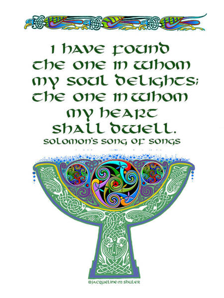 Celtic Wedding Goblet Art Print