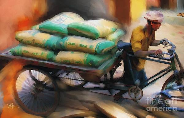 Bangladesh Painting - Cement Runner by Bob Salo