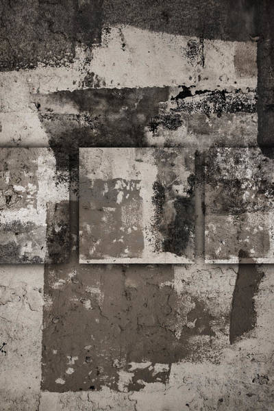 Cement Wall Art - Photograph - Cement Squares Number Four by Carol Leigh