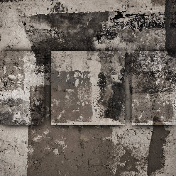 Cement Wall Art - Photograph - Cement Squares Number Three by Carol Leigh