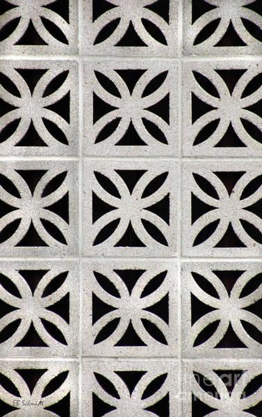 Photograph - Cement Wall 1 Vertical by E B Schmidt