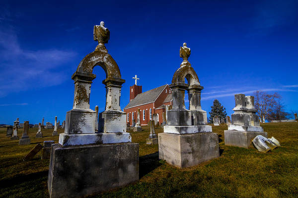 Photograph - Cemetary At St. John's Lutheran Church by Ron Pate