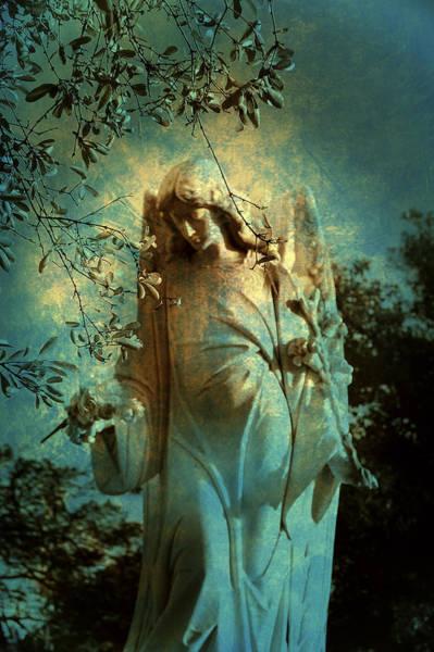 Grave Yard Photograph - Cemetery Angel by Susanne Van Hulst