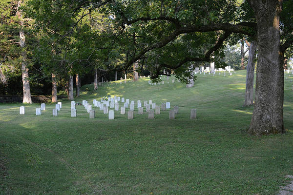 Photograph - Cemetery At Shiloh National Military Park In Tennessee by WildBird Photographs