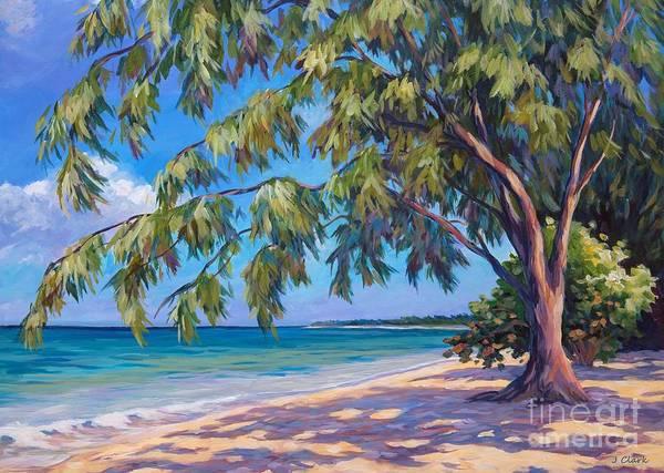Wall Art - Painting - Cemetery Beach 5x7 by John Clark