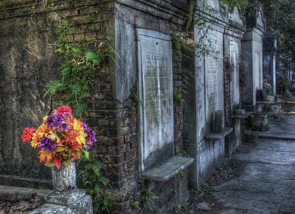 Photograph - Cemetery Bouquet by Michael Kirk