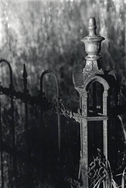 Photograph - Cemetery  Fence by Erik Paul