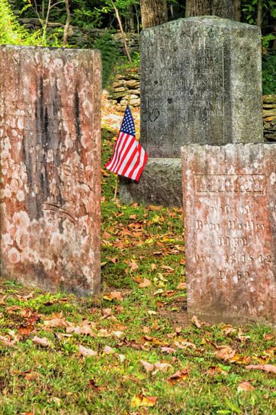 Photograph - Cemetery Flag by Tom Singleton