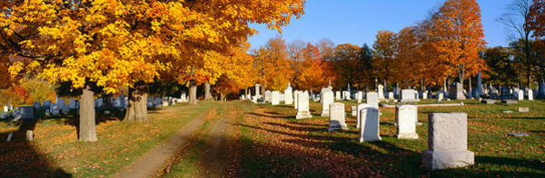 Wall Art - Photograph - Cemetery In Autumn At Brattleboro by Panoramic Images