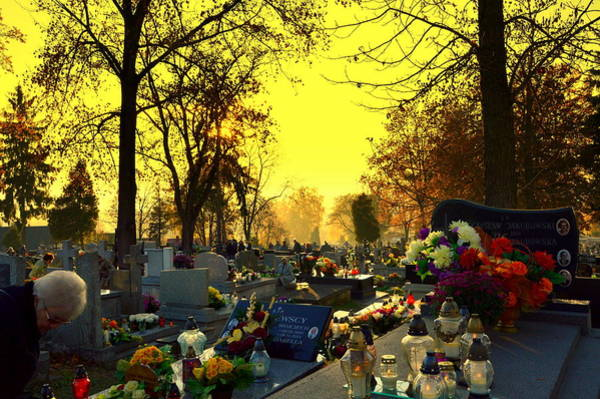 Gorecki Photograph - Cemetery In Feast Of The Dead by Henryk Gorecki