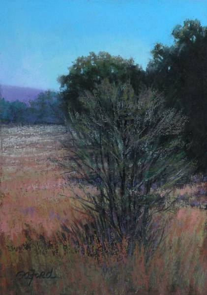 Wall Art - Painting - Cemetery Outlook by Paula Ann Ford