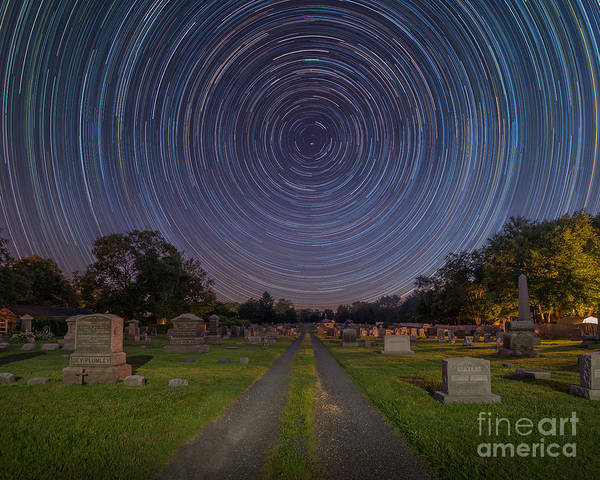 Spin Wall Art - Photograph - Cemetery Spins  by Michael Ver Sprill