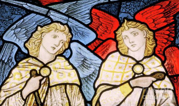 Wall Art - Glass Art - Censing Angels, 1869 by Edward Coley Burne-Jones