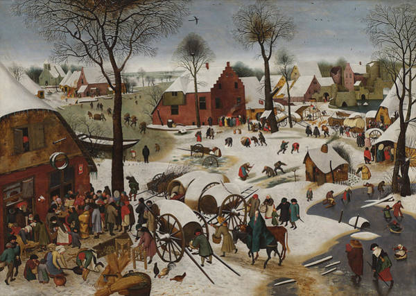 Census Painting - Census At Bethlehem by Mountain Dreams