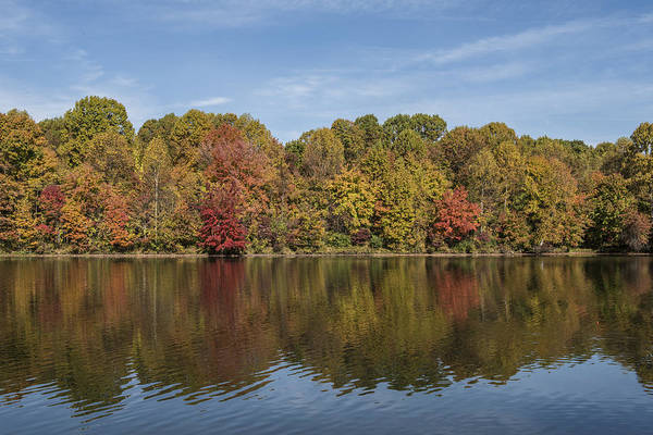 Photograph - Centennial Lake In Columbia Maryland In Autumn by William Bitman