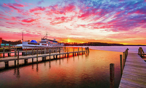 Photograph - Center Harbor Sunrise by Robert Clifford