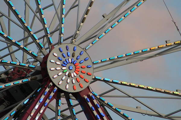 Nc State Wall Art - Photograph - Center Of The Ferris Wheel by Selena Wagner