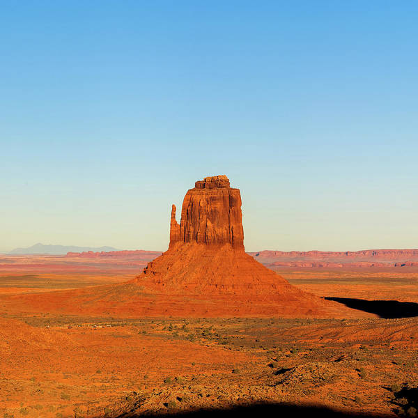 Photograph - Center Panel 2 Of 3 - Monument Valley Buttes Panoramic Landscape At Sunset by Gregory Ballos