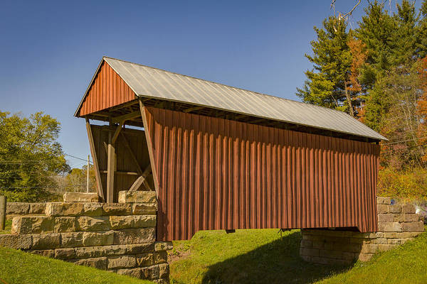 Photograph - Center Point Covered Bridge by Jack R Perry
