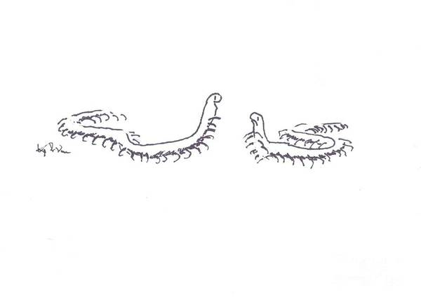 Painting - Centipedes In Discussion Cartoon by Kip DeVore