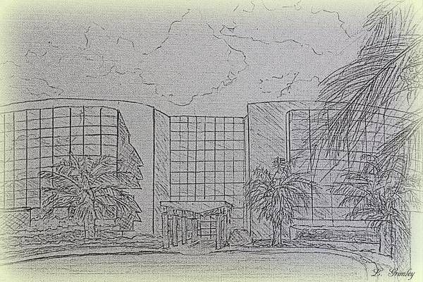 Wall Art - Drawing - Central Florida Community College - The Ewers Century Center by Lessandra Grimley