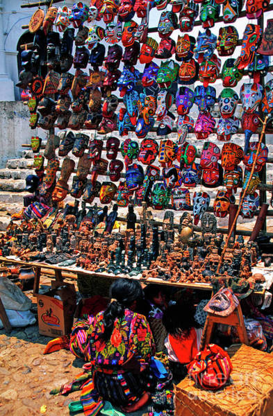 Photograph - Central Market Chichicastenango by Thomas R Fletcher