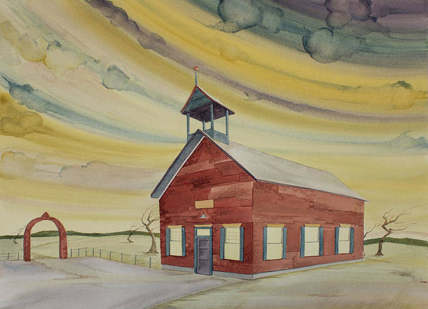 Painting - Central Ohio Schoolhouse by Scott Kirby