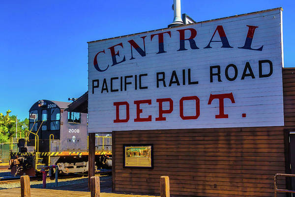 Wall Art - Photograph - Central Pacific Rail Road Depot by Garry Gay