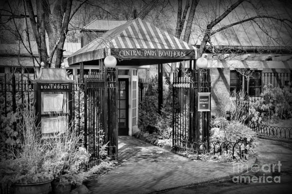 Wall Art - Photograph - Central Park Boathouse In Black And White by Paul Ward