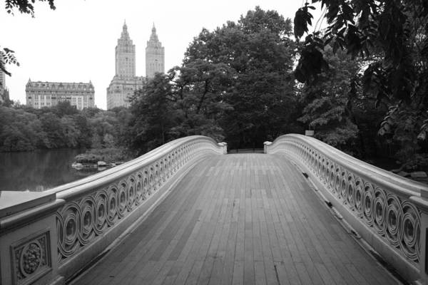 Central Park Bow Bridge With The San Remo Art Print