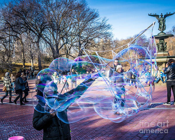 Wall Art - Photograph - Central Park Bubbles by Perry Webster