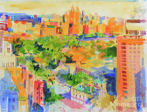 Central New York Painting - Central Park From The Carlyle by Peter Graham