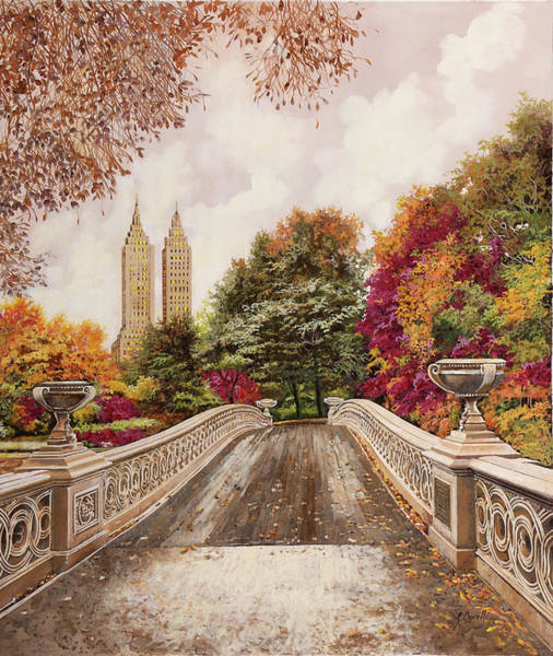 Wall Art - Painting - Central Park by Guido Borelli