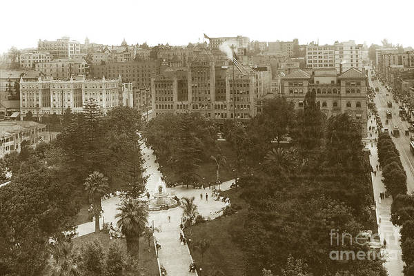 Photograph - Central Park, Later Pershing Square Downtown Los Angeles  An Ele by California Views Archives Mr Pat Hathaway Archives