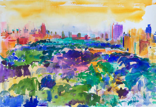 Park Avenue Wall Art - Painting - Central Park New York by Peter Graham