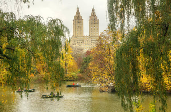 Wall Art - Photograph - Central Park Rowboats by June Marie Sobrito