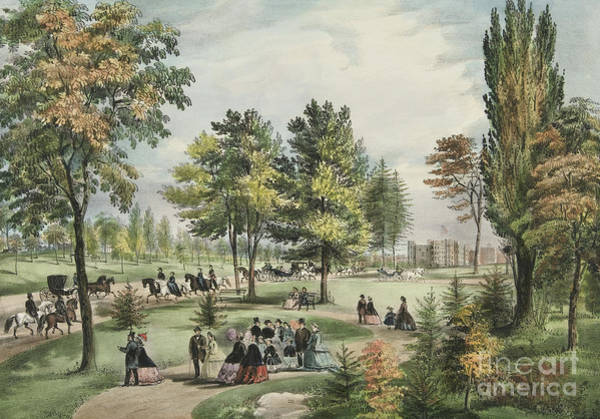 Central America Painting - Central Park  The Drive, 1862 by Currier and Ives