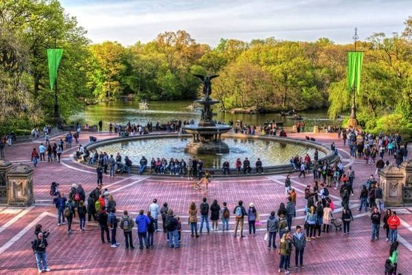 Photograph - Central Park Water Fountain New York Ny by Toby McGuire
