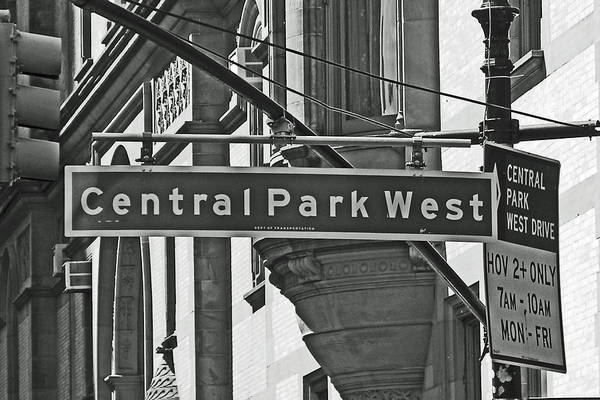 Wall Art - Photograph - Central Park West by Sharla Gentile