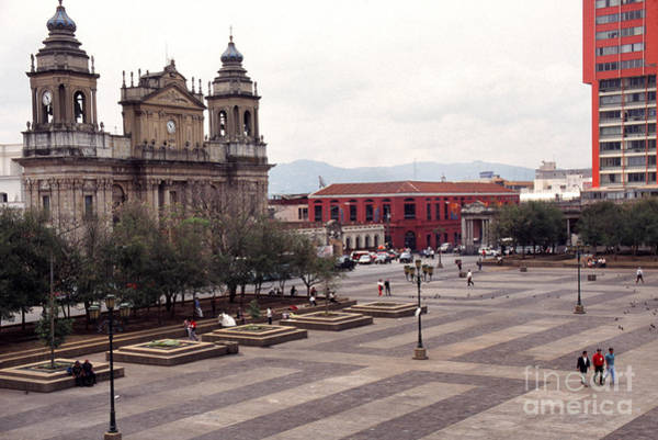 Photograph - Central Plaza And Metropolitan Cathedral Guatemala City by Thomas R Fletcher