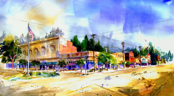 Painting - Central Square Auburn by Joan Chlarson
